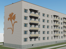 Five-story building of a series 114-86 Troitsk 5 microdistrict, 1