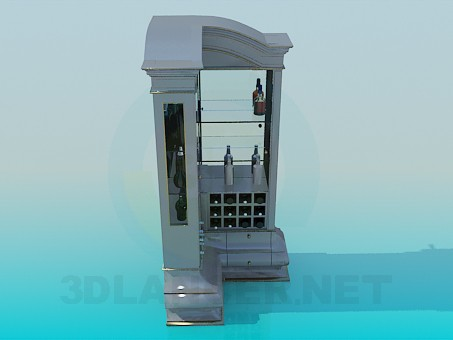 3d model Bar corner sideboard - preview