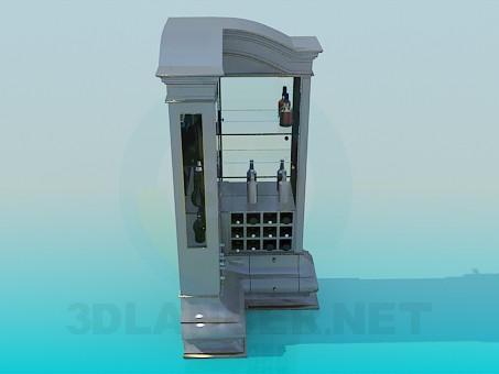 3d модель Барный угловой сервант – превью