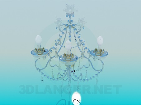 3d model Luxury crystal chandelier - preview