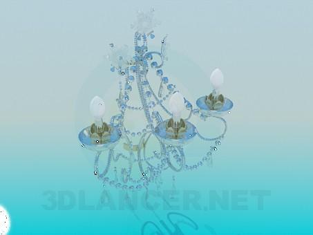 3d модель Роскошная хрустальная люстра – превью