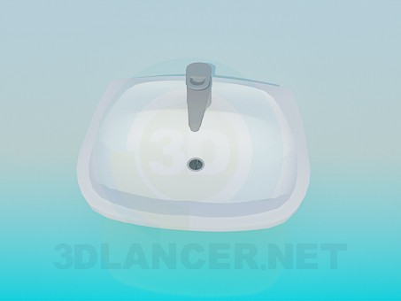 3d model Wash-basin with mixing tap - preview