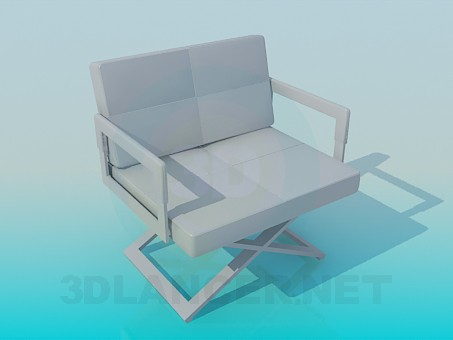 3d model Wide armchair - preview