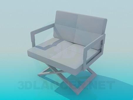 modelo 3D Sillón ancho - escuchar
