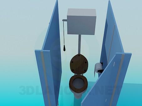 3d модель Кабинка в общественном туалете – превью