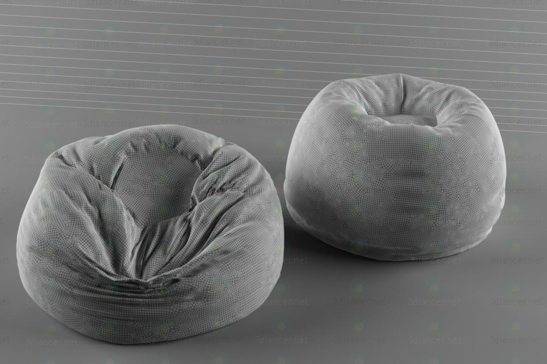 3d модель пуф мешок 2 – превью