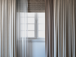 Cortinas con cortina romana y set telle 02.