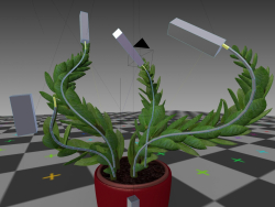 rigged,animated indoor plant in blender
