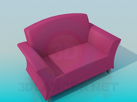 3d modeling Wide armchair model free download