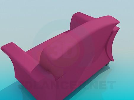 3d модель Широке крісло – превью