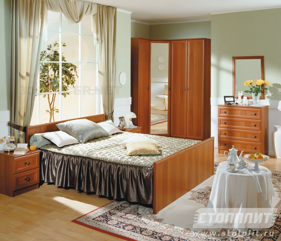 3d model Italian Walnut Bedroom Georgia - preview