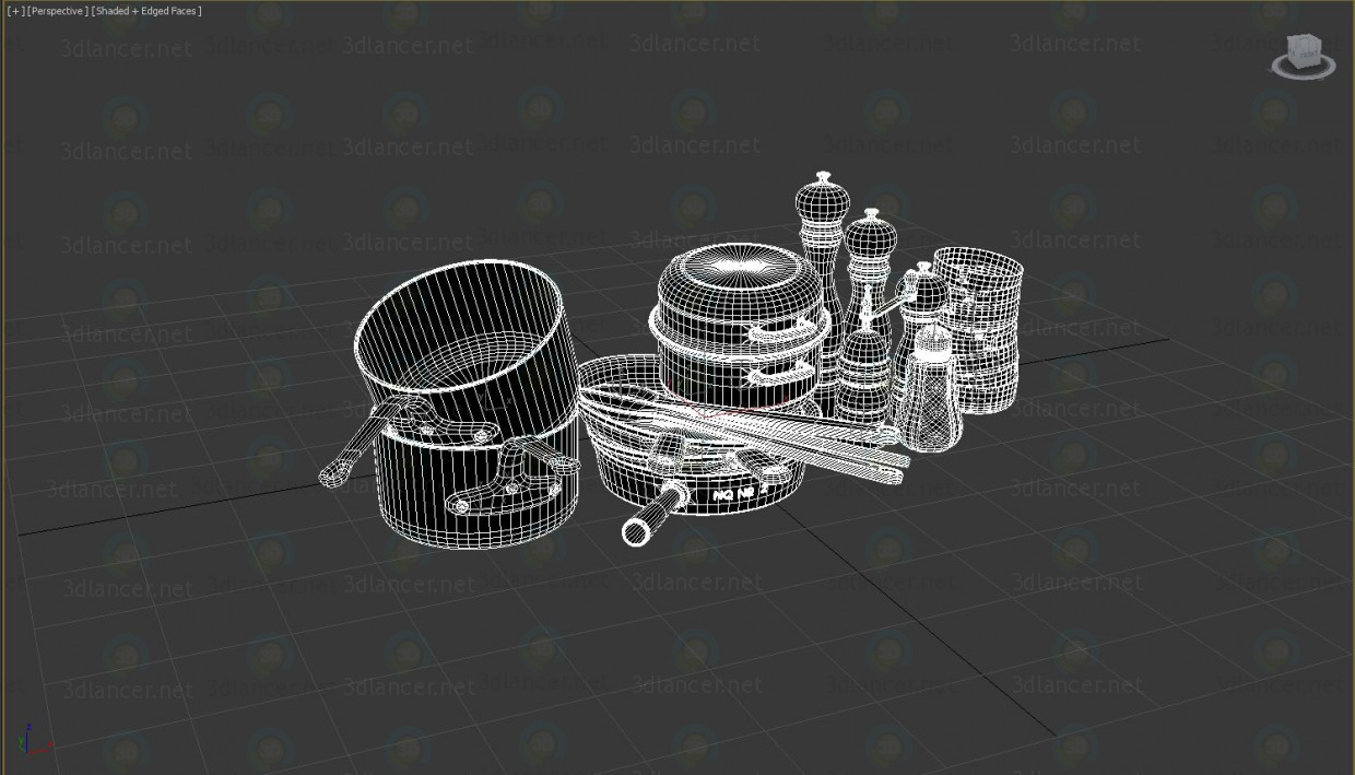 3d model Cooking dishes - preview