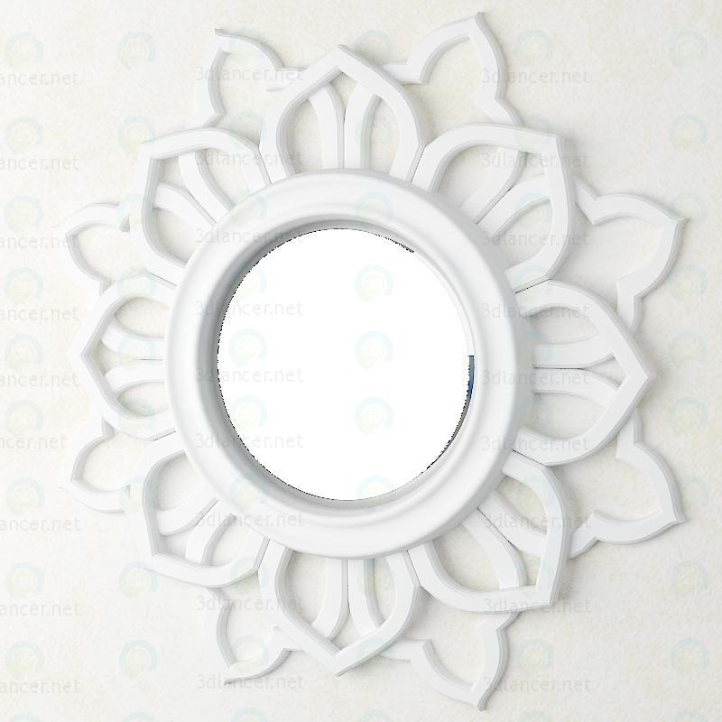 3d модель Настінний декор - дзеркало – превью