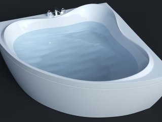 Bathtube Troy Extra (1500х1500mm) Corona e VRay