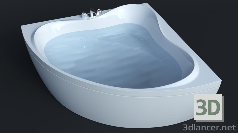 3d model Bathtube Troy Extra (1500х1500mm) Corona and VRay download ...