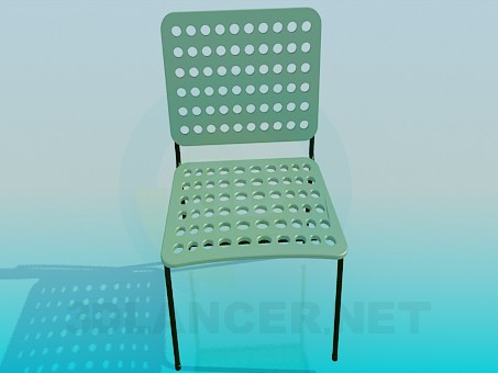 3d model Chairwith the holes - preview
