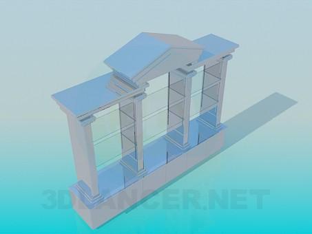 modelo 3D Atril de pie con estantes de vidrio - escuchar