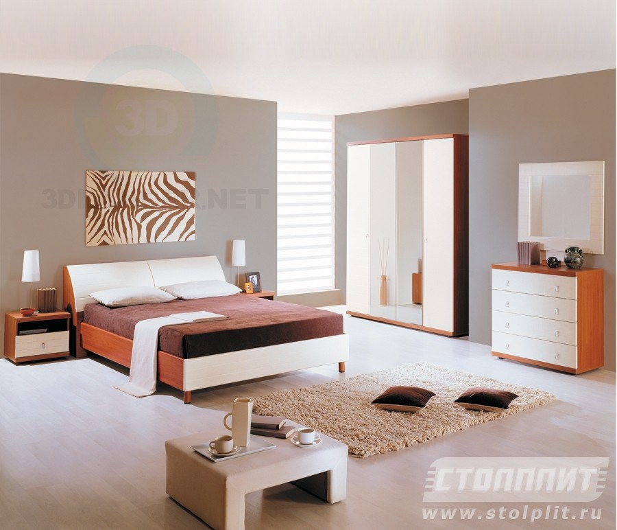 3d model Bedroom Gretta - preview