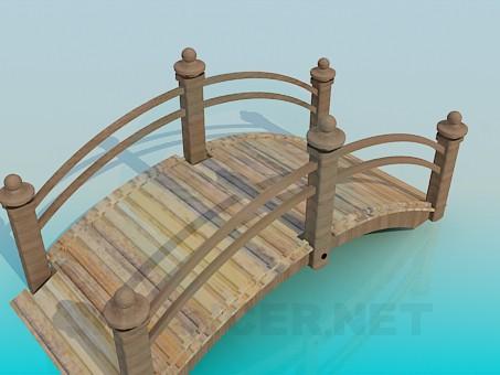 3d model garden bridge - preview