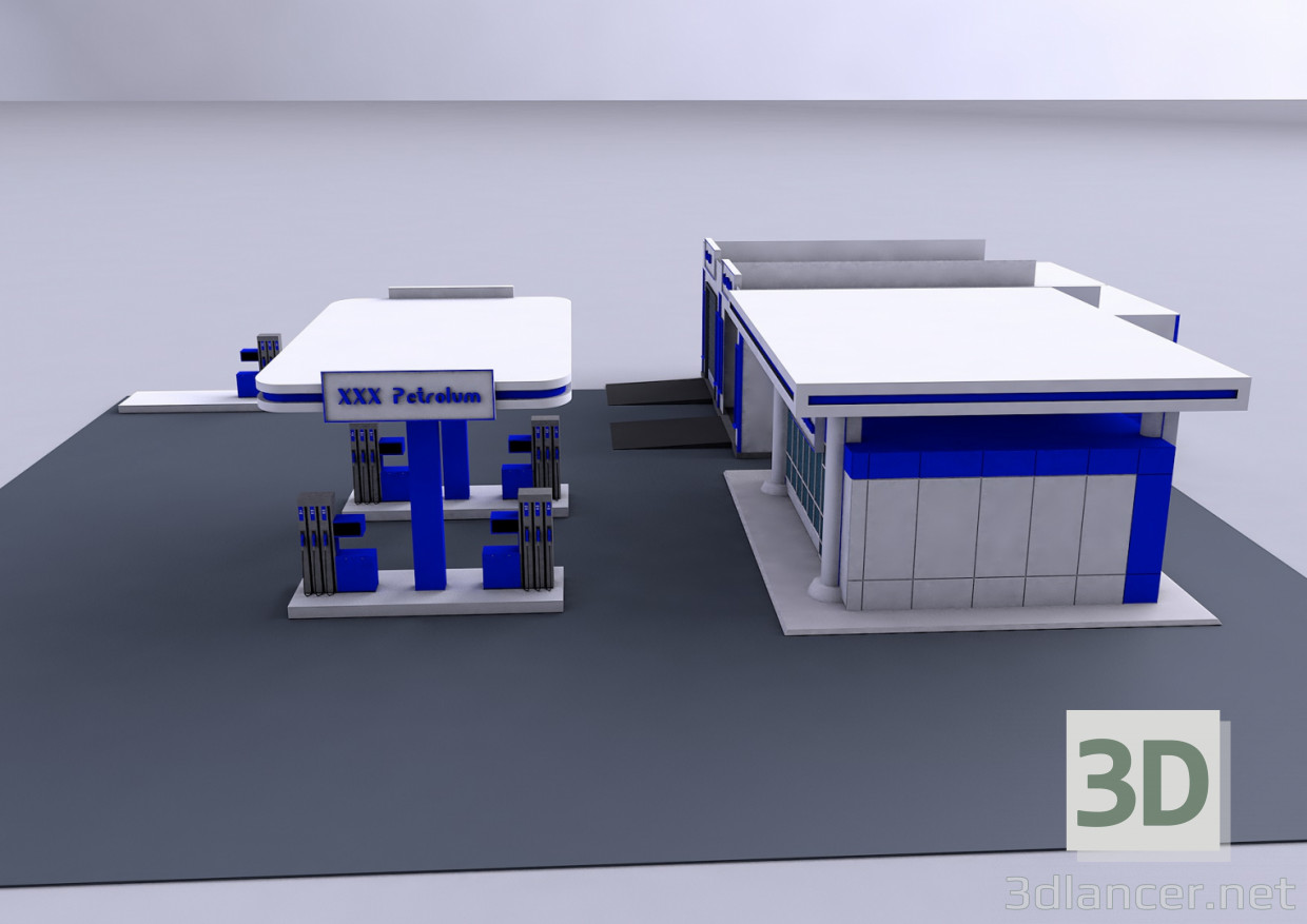 3d model Gas station - preview