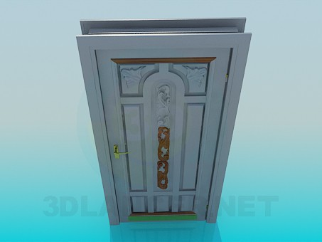 3d модель Дверь входная – превью