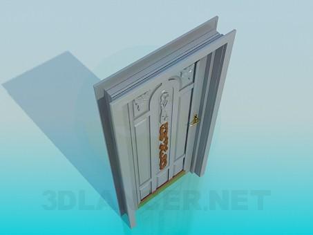modelo 3D Puerta de entrada - escuchar