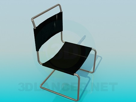 3d modeling Chair with cloth seat-back model free download