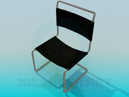 3d model Chair with cloth seat-back - preview