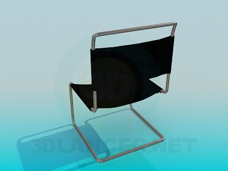3d модель Стілець з тканинної спинкою сидінням – превью