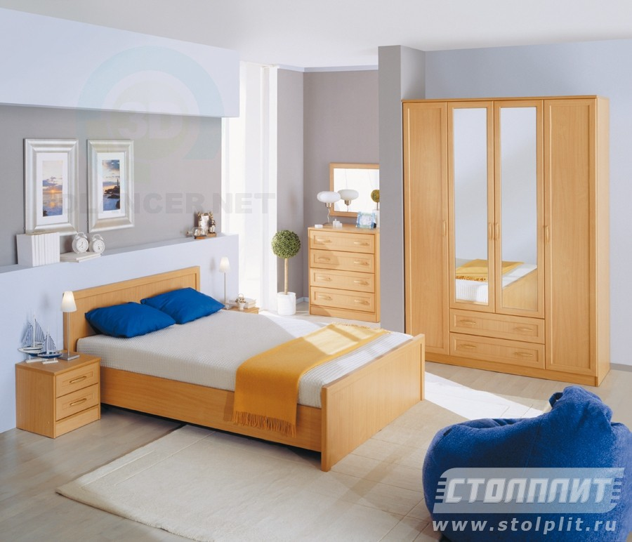 3d model Bedroom Simba - preview