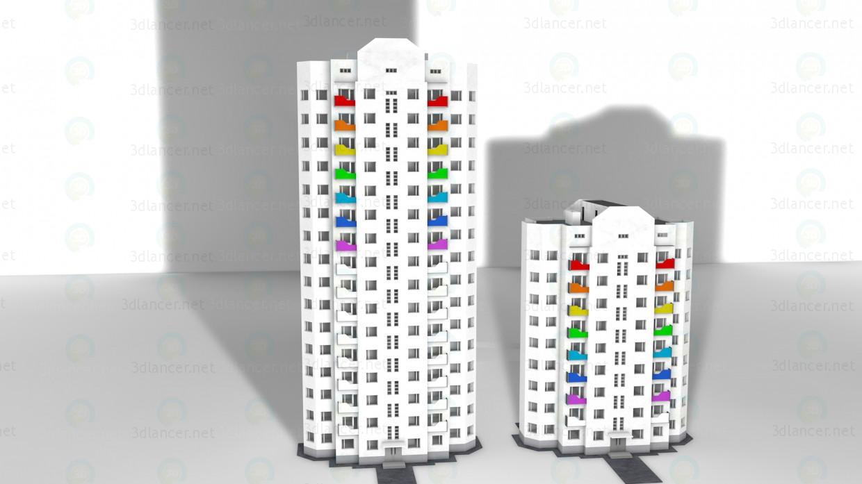 modelo 3D Piso de la casa 9 - escuchar