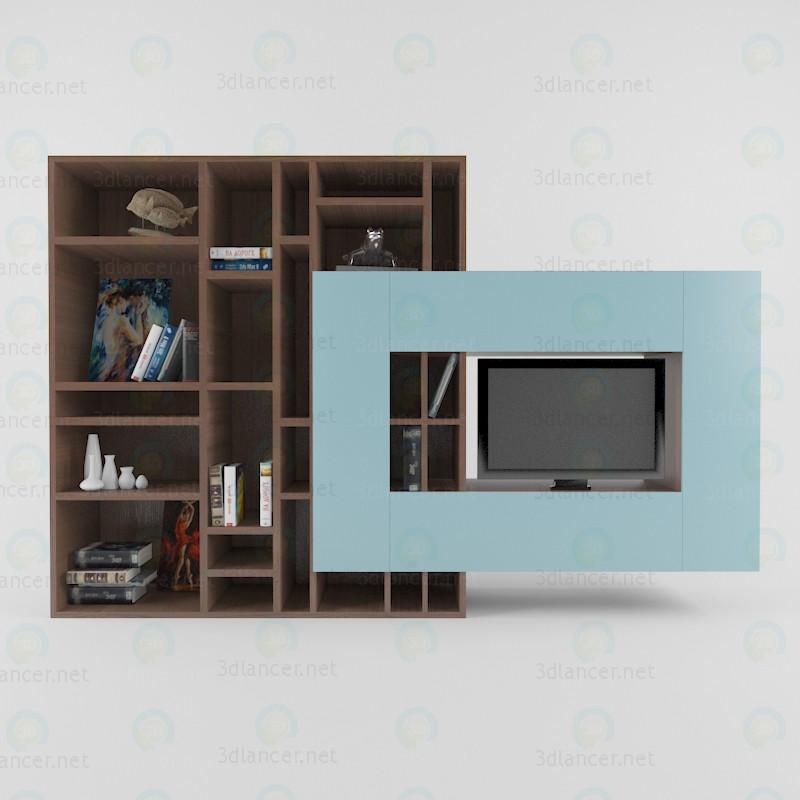 3d модель Стеллаж под телевизор – превью