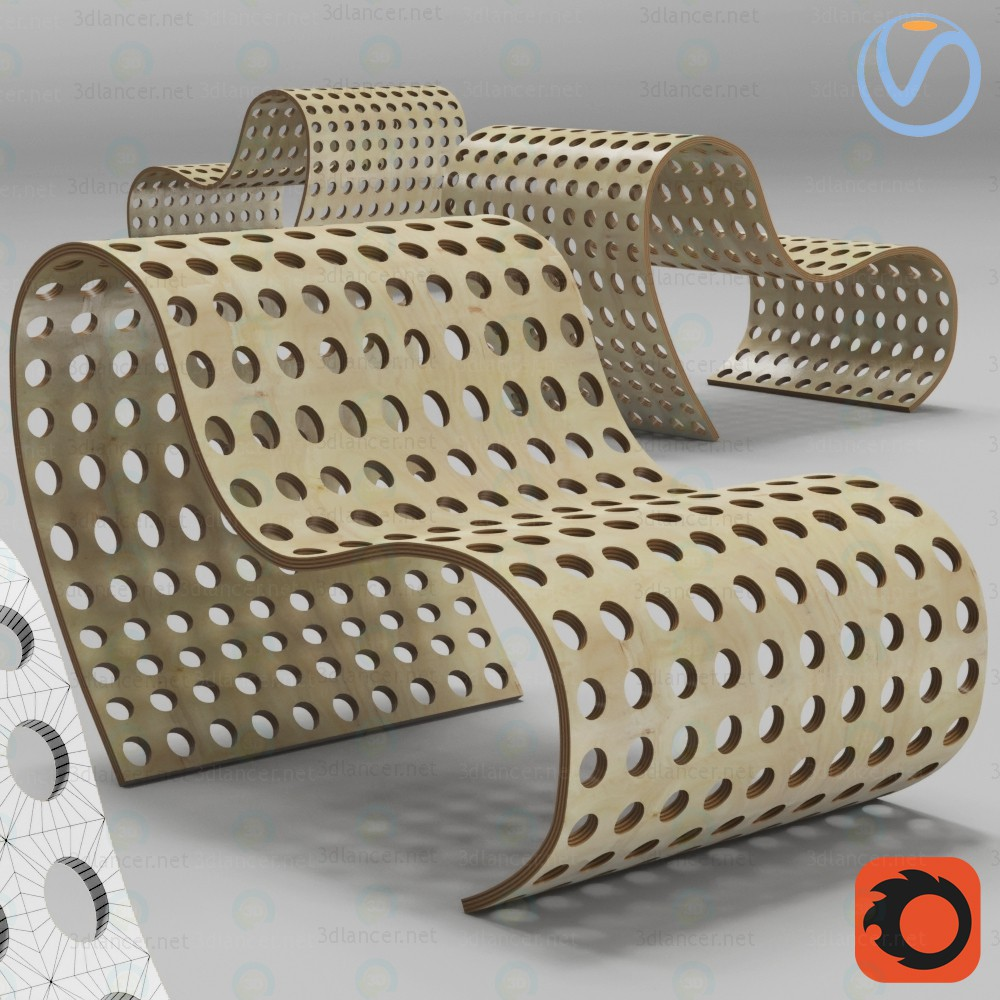 3d model Plywood Chair - preview