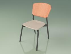 Chair 020 (Metal Smoke, Orange, Polyurethane Resin Mole)