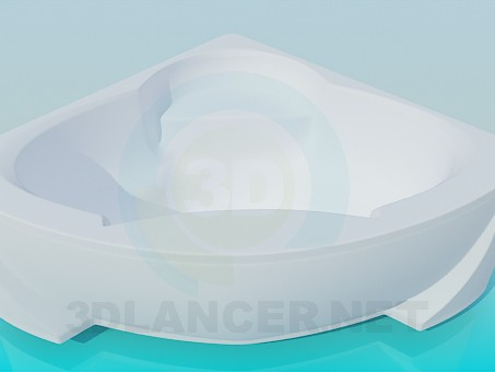 3d модель Ванна в кут – превью