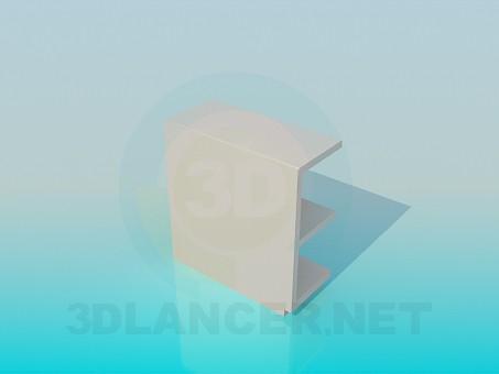 3d модель Угловая подвесная полка – превью