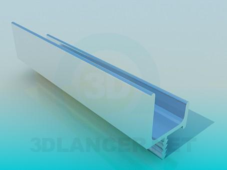 3d модель Алюминиевый профиль – превью