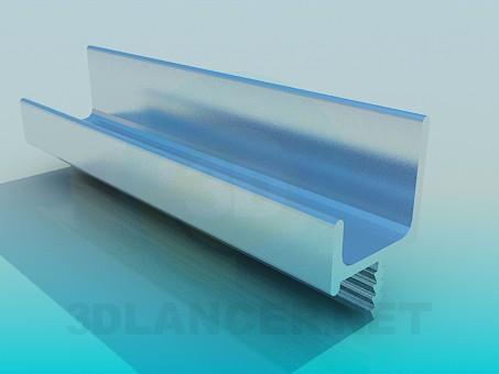 modelo 3D Profil de aluminio - escuchar