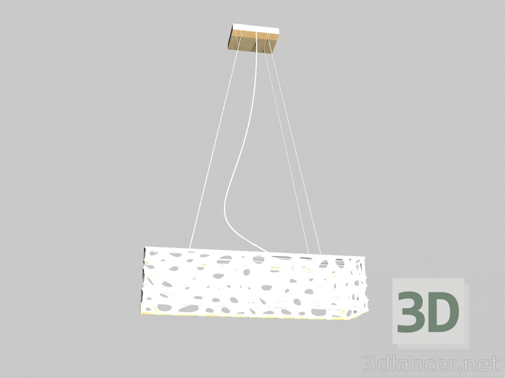 3d model White lamp Hanging md 10376-3a dune 3 set,Illuminati max