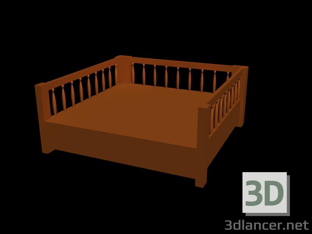 3 डी मॉडल Trestle बिस्तर - पूर्वावलोकन