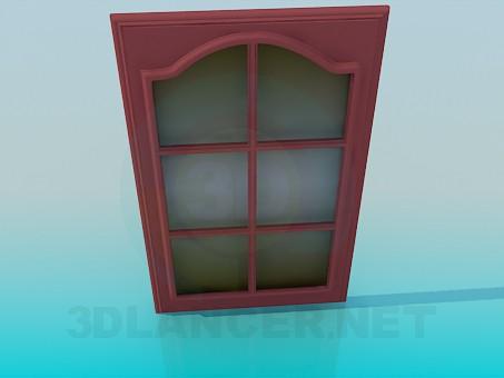 3d model Short door with glass - preview