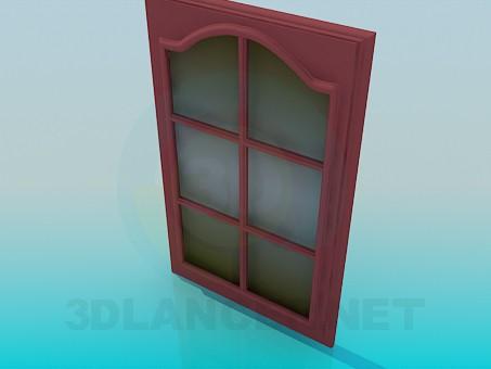3d модель Короткая дверь со стеклом – превью