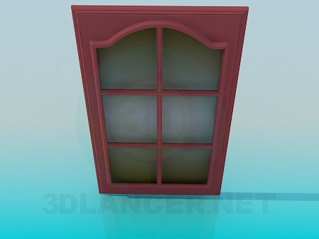 modelo 3D Puerta corta con vidrio - escuchar