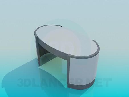modelo 3D La mesa en la oficina - escuchar