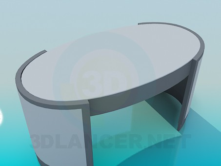 3d model The table in the office - preview