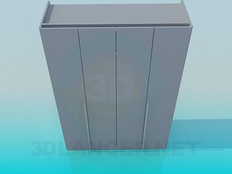 3d моделирование Шкаф с дверками - гармошкой модель скачать бесплатно