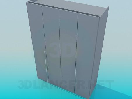 3d model Cupboard with door-pleat - preview