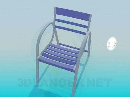 3d модель Стул с наклонной спинкой – превью