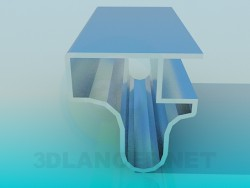 Profil aluminium de meubles