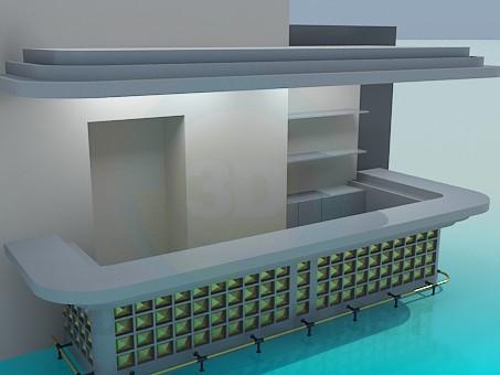 3d model Bar - vista previa